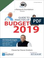 Budget 2019
