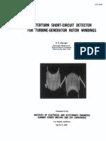 Generator Interturn Fault Detection