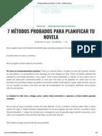 7 métodos probados para planificar tu novela - Gabriella Campbell