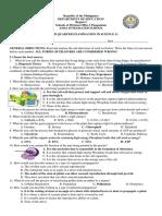 Second Quarter Exam Earth and life Sciences