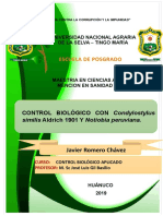 Control Biologico Con Conylostylus Similis y Notiobia Peruviana