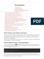 Java String Interview Questions and Answers - extracted from JournalDev
