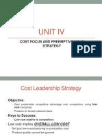 UNIT IV Cost Focus