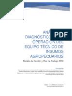 ANÁLISIS Y DIAGNÓSTICO DE LA OPERACIÓN UNIDAD DE INSUMOS AGROPECUARIOS