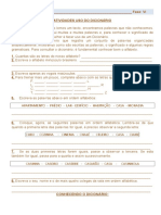 Exercícos Fase VI Uso Do Dicionário e Sinonímia
