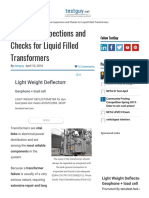 3 Routine Inspections and Checks for Liquid-Filled Transformers