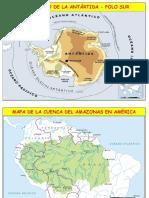Mapa de Antartida y Amazonia