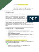Ley de Financiamiento - PREGUNTAS CLASE