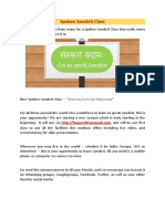 Spoken Sanskrit Class 1