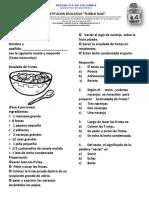 Evaluación de Lengua Grado 3