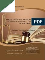 Investigacion Decreto 145 2018 Ley de Apoyo a La Micro y Pequeña Empresa Derecho Mercantil II Final Segundo Parcial Acumulatico