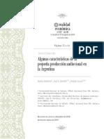 Algunas características de la pequeña producción audiovisual en la Argentina
