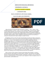 MAICA DOMNULUI ÎN TEOLOGIA ORTODOXĂŞI ROMANO-CATOLICĂ