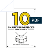 10 Snare Drum Pieces - Book 1 - Level 2