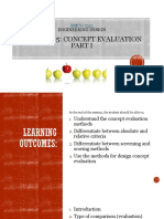 5 Chapter 5 Concept Evaluation Part i