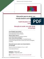 Educación Para La Salud_ Una Mirada Desde La Antropología