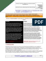 Estudio de La Gestión y Control de La Calidad en Ave María Accesorios s.a.s.
