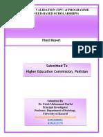 TPV Report - DLI 7 (Need-Based Scholarships)