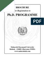 Brochure for Registrat PhD Programme 2010