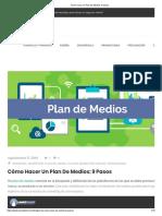 Cómo Hacer Un Plan de Medios_ 9 Pasos