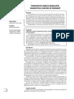 Periodontita Cronica Granulanta. Diagnosticul Si Metode de Tratament