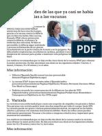 14 Enfermedades de Las Que Ya Casi Se Había Olvidado Gracias a Las Vacunas - HealthyChildren.org