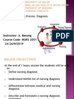 Nursing Process Diagnosis