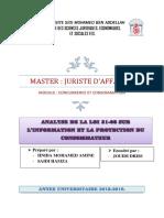 Analyse de La Loi 31-08