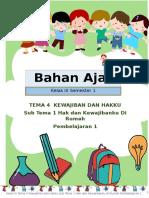 Bahan Ajar Kelas 3 Tema 4 Sub Tema 1 Pembelajaran 1