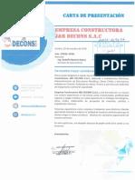 Carta de Presentacion Documentada