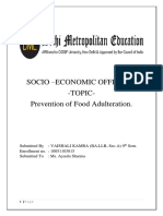 prevention of food adulteration.