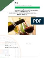 Elaboración Del Vino de Uva -  ESPOCH
