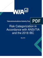 Risk categorization according ANSI/TIA