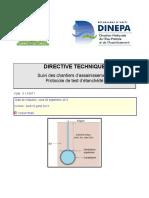 Protocole de Test Detancheite Assainissement