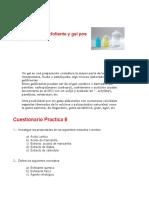FORMULACIONES COSMETICAS Practica 8 Gel Exfoliante y Gel Post Afeitado