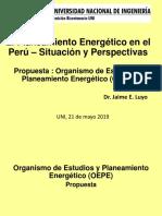 El Planeamiento Energético en El Perú –Resumen-UNI 21 Mayo 2019 (2)
