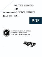 Results of the US Second Manned Suborbital Spaceflight