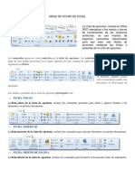 Menu de Fichas de Excel,Word y Power Point 2019