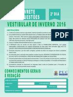 Puccampinas 2016 2º Dia Prova geral