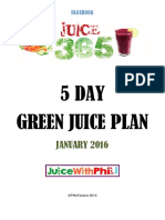 5 Day Green Plan 2016