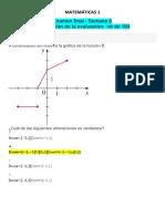 Matematicas 1 - Examenes y Quiz - Luz