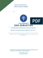 HISTORIA INSTITUCIONAL DE LA EDUCACION DEL HEROICO COLEGIO MILITAR DE MÉXICO (1822-1871).pdf
