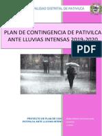 Plan de Contingencia de Pativilca Ante Lluvias Intensas 2019 2020