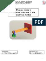Compte Rendu Poutre en Flexion