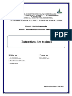 Extraction Des Toxines