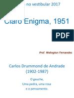 13 - Poesia - Claro Enigma - CDA - 1951