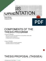 Thesis orientation
