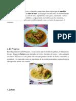 Grastronomia de los 22 Departamentos de Guatemala