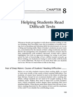 Helping Students Read Difficult Texts