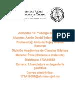 Código de Ética de Ingeniería Geofísica
